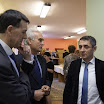 Potápi Árpád a gútai magániskola vezetőivel beszélget